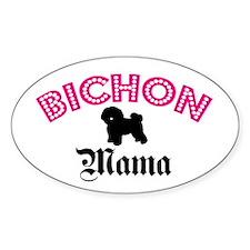 Bichon Mama Oval Decal