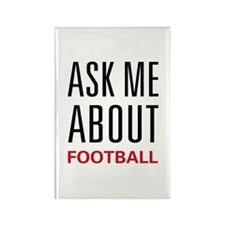 Ask Me Football Rectangle Magnet
