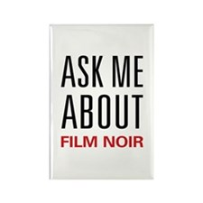 Ask Me About Film Noir Rectangle Magnet (100 pack)
