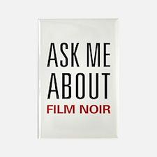 Ask Me About Film Noir Rectangle Magnet