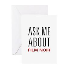 Ask Me Film Noir Greeting Card
