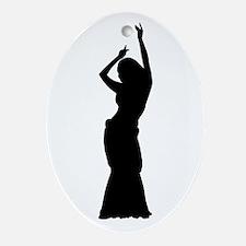 Maya Slide Pose Oval Ornament