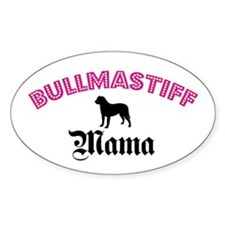 Bullmastiff Mama Oval Decal