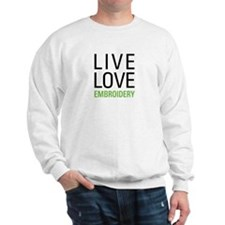 Live Love Embroidery Sweatshirt