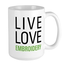 Live Love Embroidery Mug