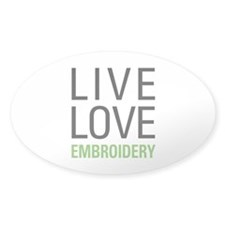 Live Love Embroidery Decal