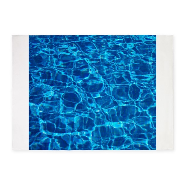 Pool Water 5 X7 Area Rug By Artdecor1