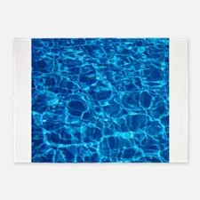 Pool water 5'x7'Area Rug