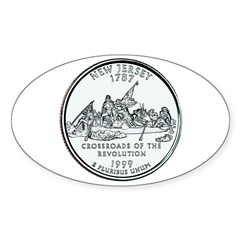 New Jersey State Quarter Oval Decal