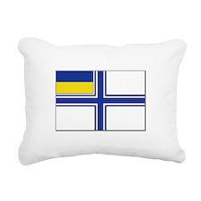 Flag of Ukraine Naval En Rectangular Canvas Pillow