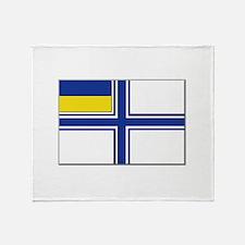 Flag of Ukraine Naval Ensign Throw Blanket