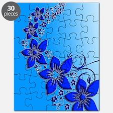 Blue Floral Art Puzzle