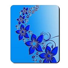Blue Floral Art Mousepad