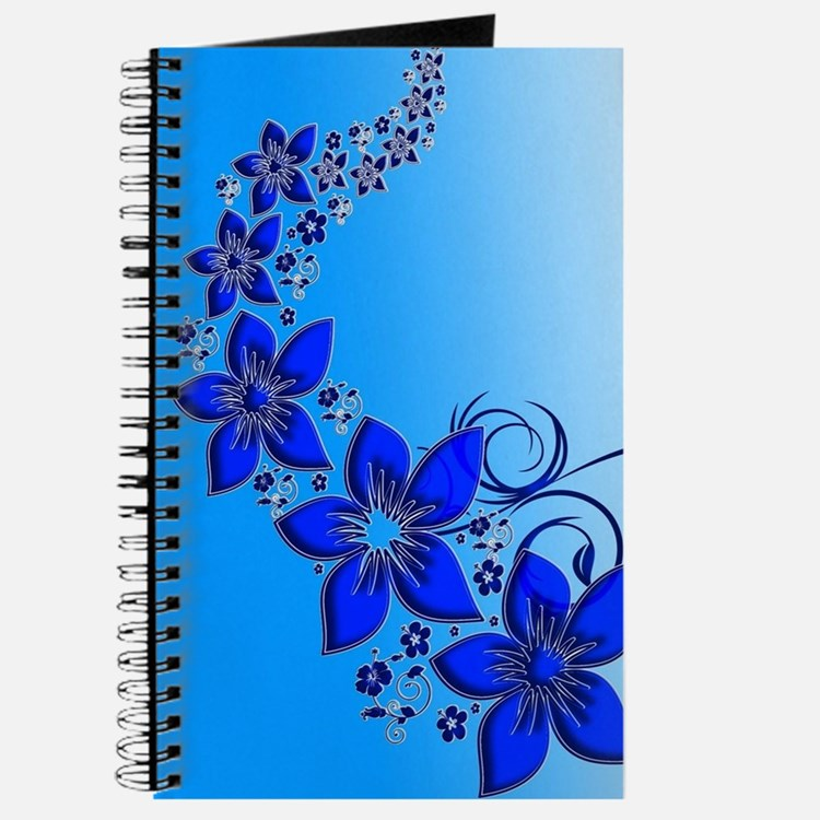 Blue Floral Art Journal