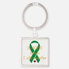 In Gods hands Square Keychain