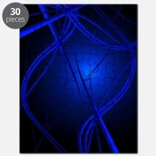 Blue Abstract Art Puzzle