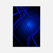 Blue Abstract Art Rectangle Magnet
