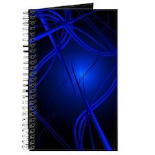 Blue Abstract Art Journal