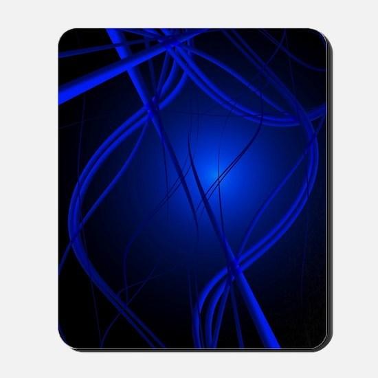 Blue Abstract Art Mousepad