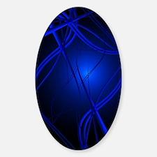 Blue Abstract Art Sticker (Oval)