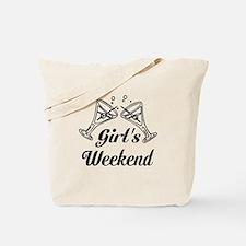 Girls Weekend Martini Glass Tote Bag