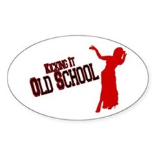 Old School Belly Dance Oval Decal