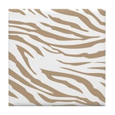 Cream Zebra Print Tile Coaster
