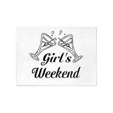 Girls Weekend Martini Glass 5'x7'Area Rug