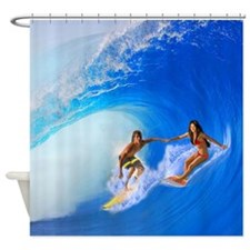 SURFING OAHU Shower Curtain