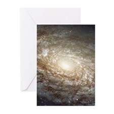 NGC 4414 Spiral Galaxy Science Greeting Cards (10)