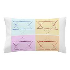 Star of David Pop Art Pillow Case