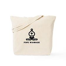 Pope Wannabe 1 (white/black) Tote Bag
