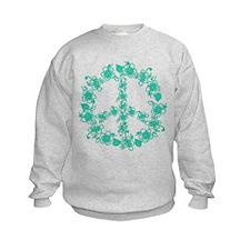 Hula Peace turquoise Sweatshirt