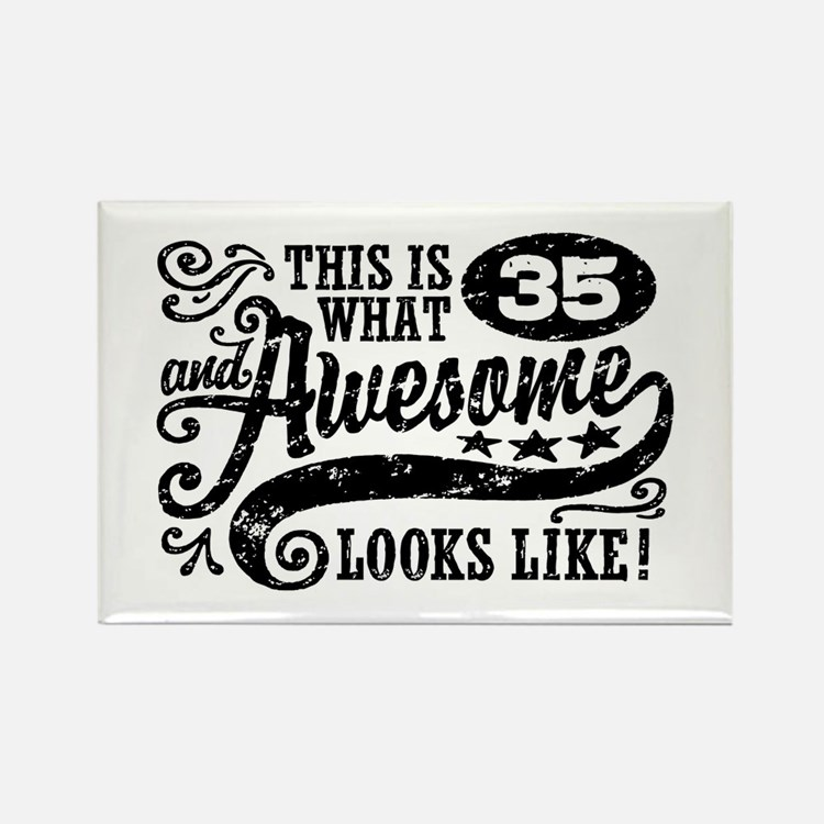 35th Birthday Rectangle Magnet
