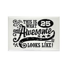 25th Birthday Rectangle Magnet