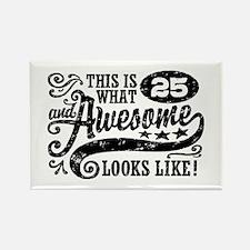 25th Birthday Rectangle Magnet