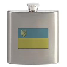 Flag of Ukrainian Trident Flask
