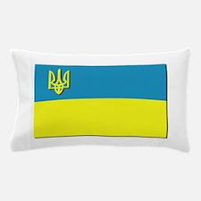 Flag of Ukrainian Trident Pillow Case