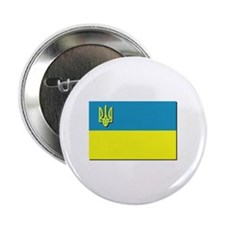 "Flag of Ukrainian Trident 2.25"" Button (100 pack)"