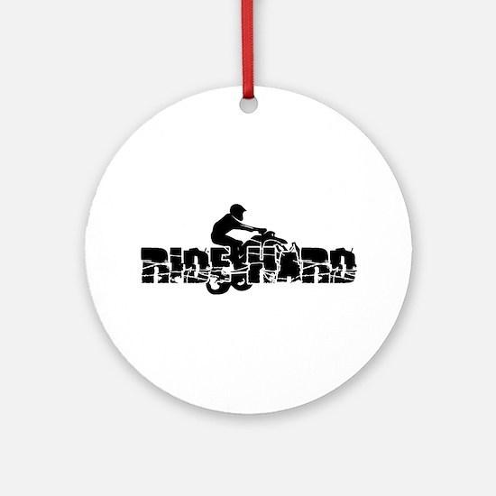 ATV Ride Hard Ornament (Round)