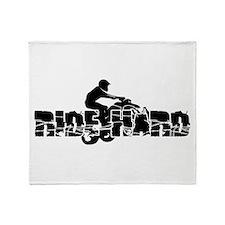 ATV Ride Hard Throw Blanket