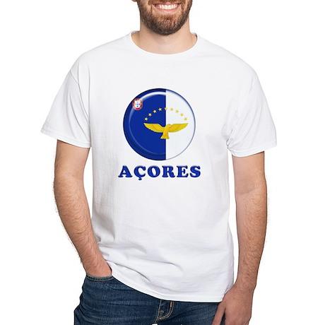 Azores islands flag White T-Shirt