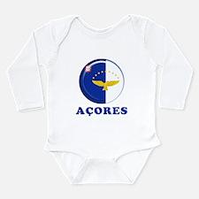 Azores islands flag Long Sleeve Infant Bodysuit