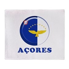 Azores islands flag Throw Blanket