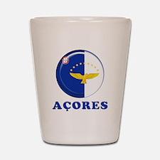 Azores islands flag Shot Glass