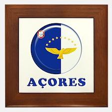 Azores islands flag Framed Tile