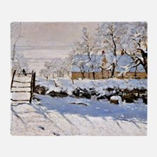 Claude Monet - The Magpie Throw Blanket