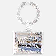 Claude Monet - The Magpie Landscape Keychain
