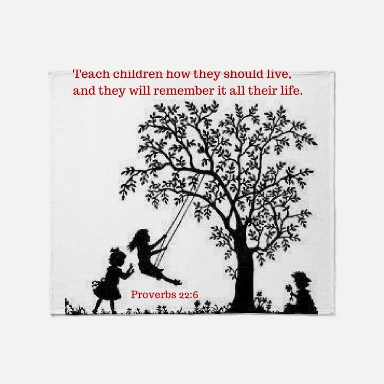 Proverbs 22:6 Throw Blanket