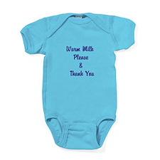 Warm Milk Please Thank You Baby Bodysuit